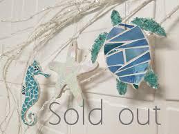 coastal ornaments glass mosaic ornaments sold