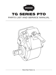 muncie tg series pto service parts manual manual transmission