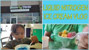 sweet turtle liquid nitrogen ice cream shop vlog super fun ice