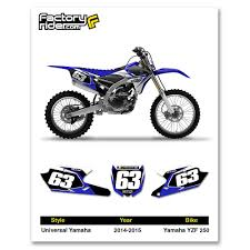 motocross bike numbers 2014 2017 yamaha yzf 250 dirt bike graphics custom number plates