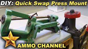 Setting Up A Reloading Bench Reloading Bench Simple Diy Quick Swap Press Mount Youtube