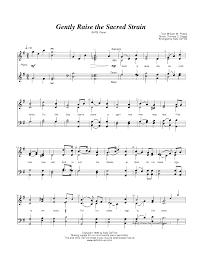 wedding dress piano sheet gently raise the sacred strain by sally deford satb
