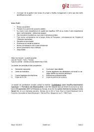 bureau d ordre et d emploi giz recrute un chauffeur assistant logistique offres d emplois
