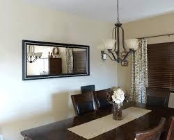 Wooden Folding Dining Table Frameless Mirror Long Dark Dining Table Contemporary Dark Brown