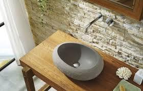 cora natural stone bathroom vessel sink in andesite granite