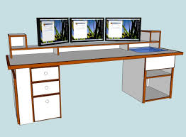Computer Desk Plan Home Design Furniture Stunning Custom Computer Desk Plans