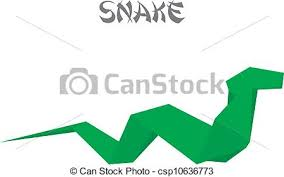 Origami Snake - illustration of an origami snake vectors illustration search
