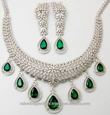 emerald necklace sets images Big bridal pear cut emerald necklace earrings set buy big jpg