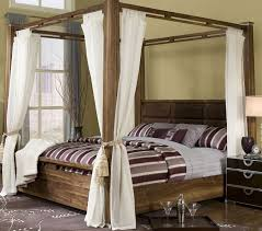 Four Poster Bed Curtains Drapes Bedroom Appealing Headboards Low Profile Master Beds With White