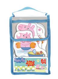 jumbo games peppa pig 4 in 1 shaped foam bath time jigsaw puzzles