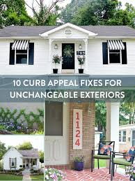 Front Curb Appeal - 10 quick exterior curb appeal fixes to mask the ugly unchangeables