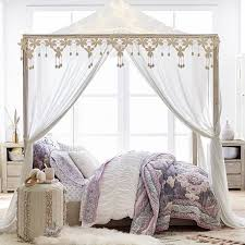 canopy for bedroom costa canopy bed pbteen
