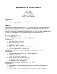 Example Of Cashier Resume by Example Of A Nurse Resume Examples Of Registered Nurse Resumes