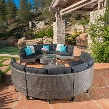 Curved Wicker Patio Furniture - amazon com currituck outdoor wicker patio furniture 10 piece