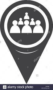 Map Pin Map Pin Pointer Group Of People Icon Stock Vector Art