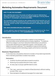 writing business requirements template our work
