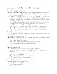 examples of reference page for resume reference resume reference
