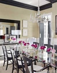 Dining Table Black Glass Black Glass Dining Table Foter
