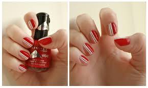 red and white stripes candy nail art red and white almost