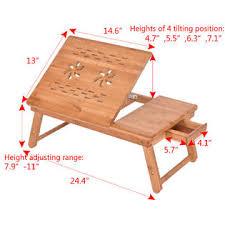Laptop Bed Desk Goplus Bamboo Folding Laptop Computer Notebook Table Bed Desk Bed