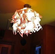 funky artsy fast paper hanging ceiling light cover year