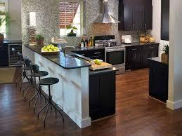 Breakfast Bar Designs Small Kitchens Cool Small Kitchen Breakfast Bar Black Wooden Bar Stools White