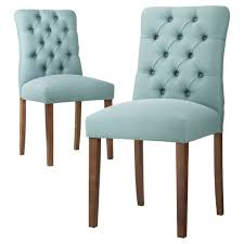 Parsons Dining Chair Dining Room Elegant Aqua Blue Brookline Tufted Dining Chair And