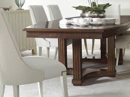 stanley furniture crestaire lola double pedestal table with boat