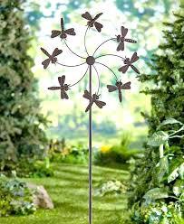 garden wind decorations metallic flower garden wind spinner in wind
