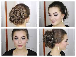 Simple And Cute Hairstyle by Fast And Simple Curly Elegant Updo For Prom Youtube