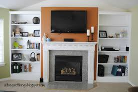 decor built in bookshelves plans around fireplace craftsman