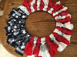 american patriotic flag handkerchief wreath tutorial for 4th of