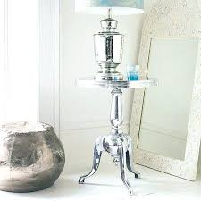 Metal Drum Accent Table Metal Drum Accent Side Table Black Salvaged Savvy To Spray Paint