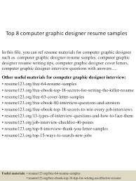 Graphic Designers Resume Samples by Top 8 Computer Graphic Designer Resume Samples 1 638 Jpg Cb U003d1432890927