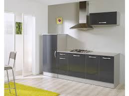 cuisine équipé conforama bloc cuisine l 240 cm rumba coloris gris silver vente de les