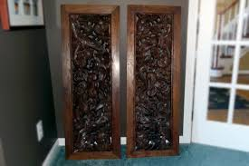 carved wood room divider custom midcentury geometric room divider floral wood carved wall