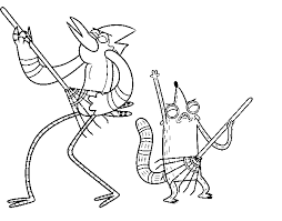 11 images of mordecai coloring pages mordecai and rigby coloring