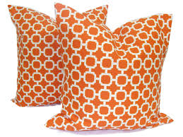 Orange Patio Cushions by Orange Outdoor Pillows Set Of Two 16 18 Or 20 Inch Pillow