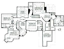 6 bedroom house plans luxury 6 bedroom floor plans home planning ideas 2017