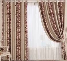 Curtains With Red Classical Pattern Make The Curtain Most Beautiful Curtainsmarket