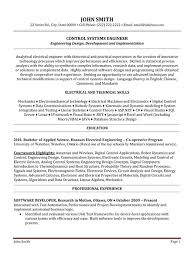 Structural Engineer Resume Sample by Download Control Systems Engineer Sample Resume