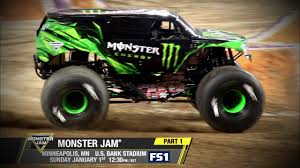 monster truck shows videos monster jam in minneapolis racing championship on fs1 jan 1