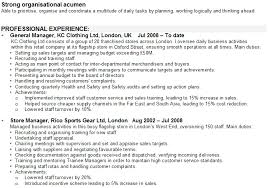 resume exles for retail retail manager cv sle