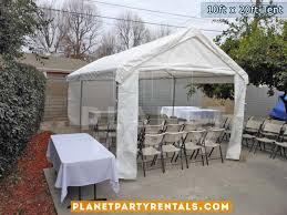table and tent rentals 10ft x 20ft tent rental