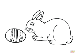 coloring pages of baby rabbits printable bunny easter eggs rabbit