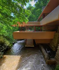mid century modern icons falling water house by frank lloyd wright