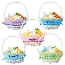 personalized easter basket liner wicker baskets with liner lillian vernon