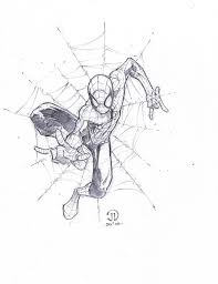 drawn spiderman professional art pencil and in color drawn
