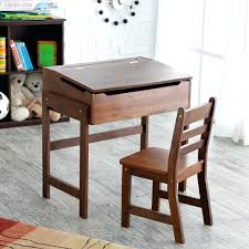 Kids Wooden Table And Chairs Set Desk Schoolhouse Desk And Chair Set Walnut Childrens Wooden