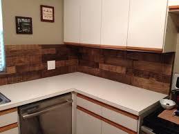 Wood Kitchen Backsplash Diy Kitchen Backsplash Using Pallet Wood Minwax Special Walnut